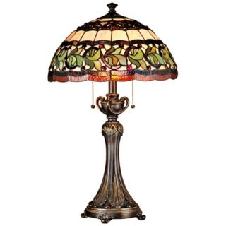 Dale Tiffany Aldridge Art Glass Table Lamp   #K1855