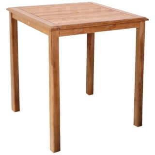 ia Teak Eden Outdoor Square Bar Table   #X6162