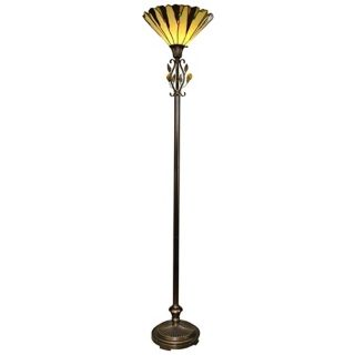 Dale Tiffany Crystal Leaf Torchiere Floor Lamp   #T0493