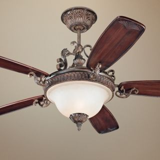 "60""  Monte Carlo Coventry Castle Ceiling Fan with Light   #U3368"
