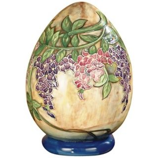 Dale Tiffany Wisteria Hand Painted Porcelain Egg   #X5540