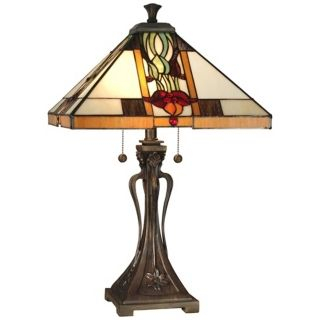 Dale Tiffany Natalie Mission Style Table Lamp   #X3250