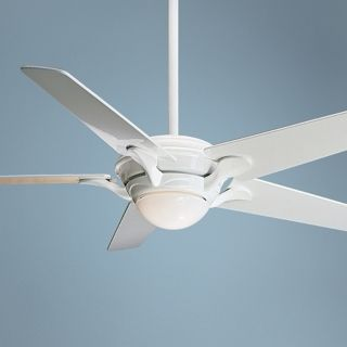 "55"" Casablanca Bel Air Snow White Ceiling Fan   #P9199 36224"