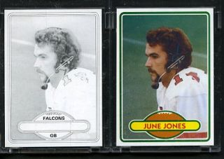 1980 Topps Football Proof Cards June Jones Falcons