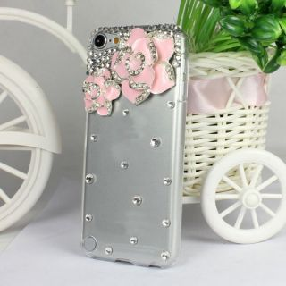 Diamond Camellia Chrome Hard Case Back Cover for Apple iPod Touch 5 5g