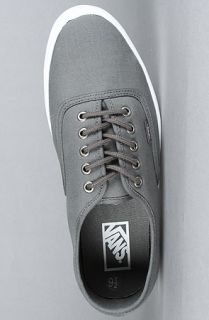 New Vans Authentic Lite Weight Outsole Grey Charcoal Canvas Sneakers