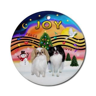 Japanese Chin Christmas Christmas Ornaments  Unique Designs