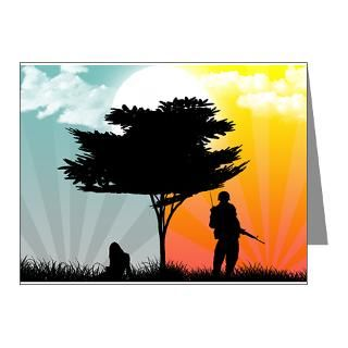 Military Christmas Thank You Note Cards