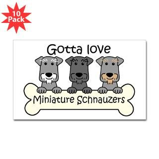 Love Miniature Schnauzers Stickers  Car Bumper Stickers, Decals