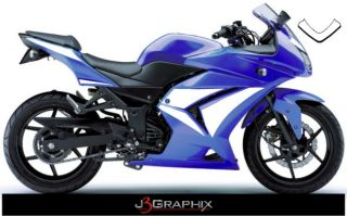 Kawasaki Ninja 250R Race Style Graphics Kit Decal Custom 250 Many