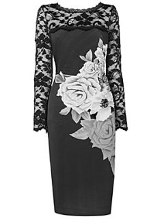 Phase Eight Cissy floral dress Black