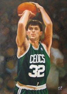 Kevin McHale Boston Celtics Original NBA Poster Oil Painting on Canvas