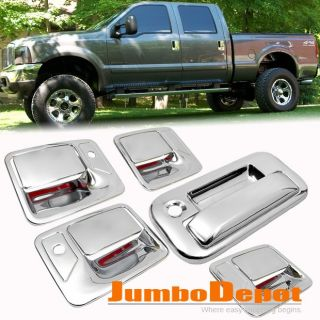 FOR 2008 2011 FORD F250 F350 CHROME DOOR HANDLE + TAILGATE REAR DOOR