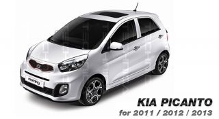 Point Carbon Decal Sticker Fit Kia 2011 2012 Picanto Morning