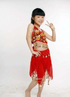 Children Kids Girl Belly Dancing Dress of Top Skirt DP007