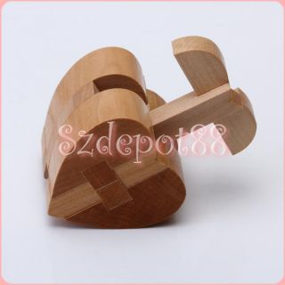 wooden heart lock kids wooden toys