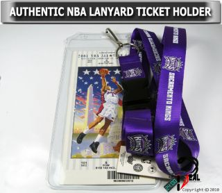 NBA Sacramento Kings Official Lanyard Keychain Ticket ID Holder Blue