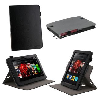View Leather Case Cover for  Kindle Fire HD 8 9 Black