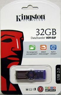 Genuine Kingston 32GB DataTraveler USB Flash Drive New in Pkg