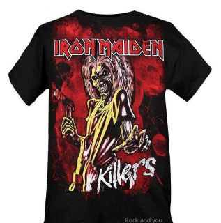 Iron Maiden The Killers Hard Rock Heavy Metal T Shirt s L