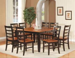 PC Square Dinette Kitchen Dining Table Set 6 Chairs