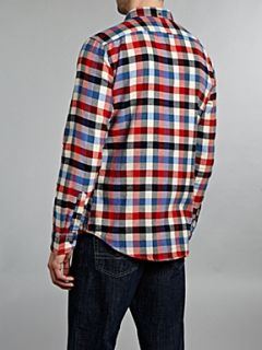 Hugo Boss Flannel checked long sleeved shirt Red