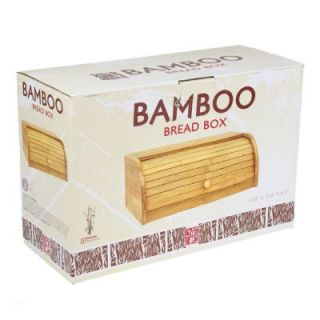 Bamboo Bread Box Fresh Large Kitchen Roll Top Eco Friendly Storage