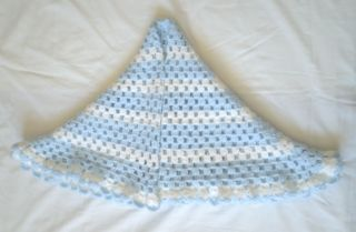 Hand Knitted Baby Crochet Shawl Blanket Beautiful