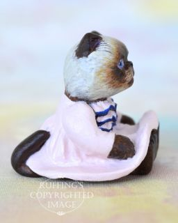 OOAK Miniature Himalayan Kitten Original Folk Art Cat Doll by Max