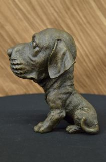 Adorable Labrador Puppy Bronze Art Deco Sculpture Figurine Figure Dog
