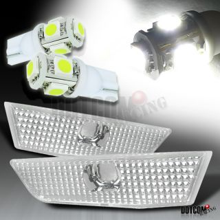2007 G35 Coupe 2dr Side Marker Lights SMD LED Lamps Bulbs White