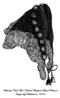 Antebellum Pre Civil War Knitted Mariposa Scarf Pattern