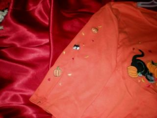 New Halloween Black Cats Pumkin Shirt Top Orange Large