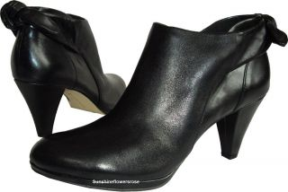 AK Anne Klein $110 Yardena Womens Black Ankle Boot Leather Booties