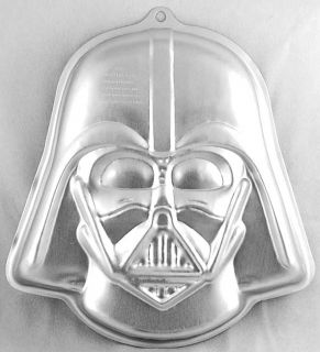 Star Wars Darth Vader Metal Cake Pan w Instructions Wilton