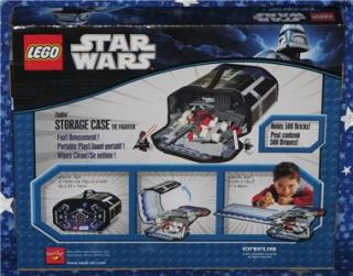 New Lego Star Wars Classic Tie Fighter ZipBin Storage Case with Play