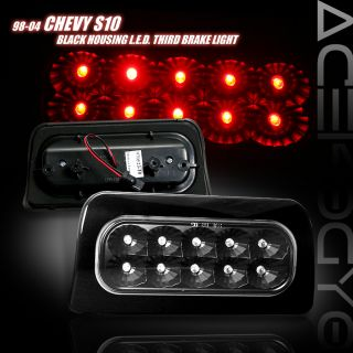 1998 2004 Chevy S10 Truck Black LED Third 3rd Brake Light High Mount