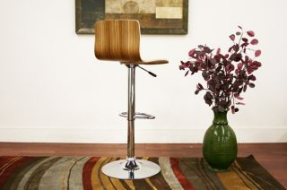 Lidell Wood Height Adjustable Swivel Bar Stool Modern