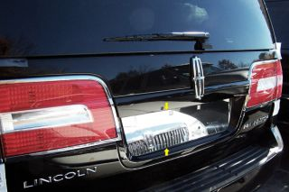 New 07 13 Lincoln Navigator License Plate Mirror Polished SS Chrome