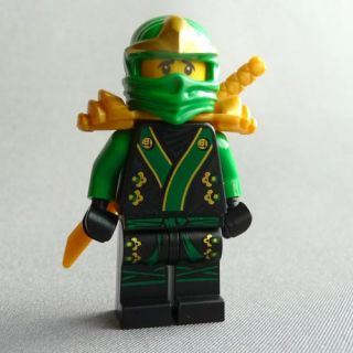 Lego Ninjago Green Ninja Lloyd ZX Exclusive w Gold Hypnobrai Staff 11