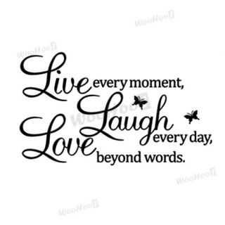 Letters LIVE LAUGH LOVE Room Mural Wall Art Sticker Decal Home Decor