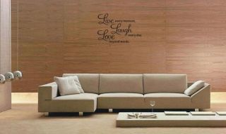 Decor Decal Wall Sticker Wall Quote Decals Live Laugh Love 001