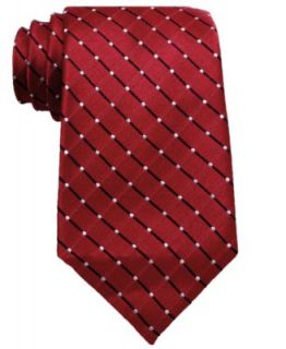Geoffrey Beene Big and Tall Tie, Dot Grid   Mens Ties