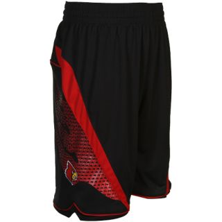 Adidas Louisville Cardinals Replica Basketball Shorts Black Cardinal