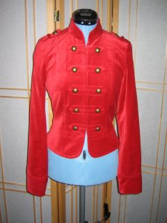 Divided Velvety Military Jacket Black or Red Size 4