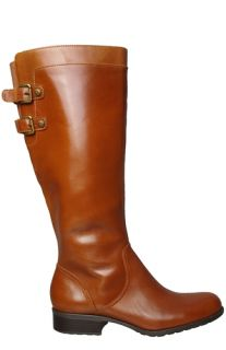Anne Klein Womens Boots Keera Light Brown Leather Sz 8 M