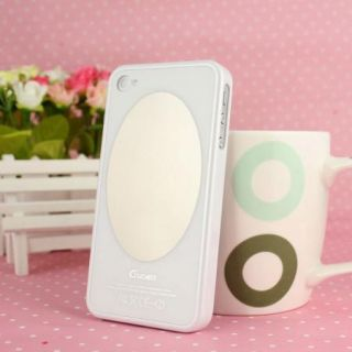 White Guoer Magic Mirror Makeup Mirror Case Cover for iPhone 4 4S