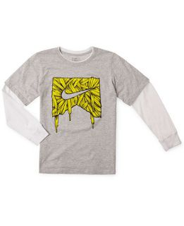 Kids Shirt, Boys Laces Icon Layered Tee   Kids Boys 8 20
