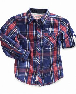 GUESS Kids Shirt, Boys Michael Plaid Shirt   Kids Boys 8 20