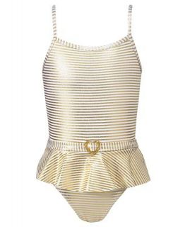 Penelope Mack Kids Swimwear, Little Girl 24K Gold One Piece